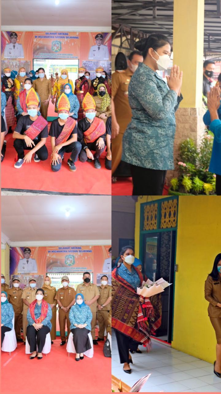 Kunjungan Ketua TP. PKK Kota Medan ke Kecamatan Medan Selayang